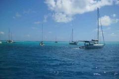 Ankern vor den Tobago Cays