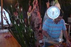 Fleischstand bei der Fiesta