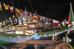 Geschmücktes Fischerboot