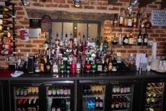 die Flaschenauswahl im Pub