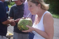 Erfrischender Kokossaft